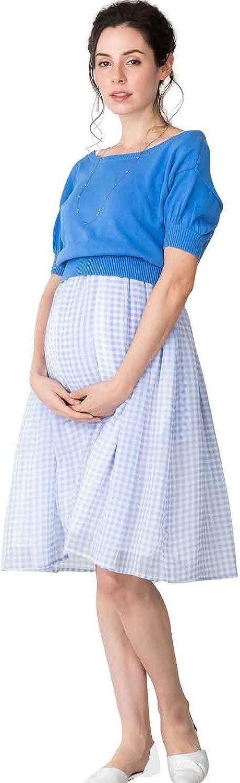 Sweet Mommy Maternity and Nursing Layered Knee Length Midi Maxi Dress