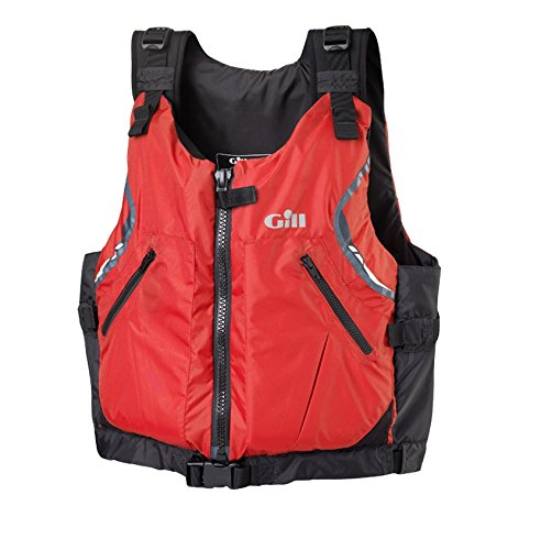 GILL USCG Approved Front Zip PFD (Red, Small/Medium) ()