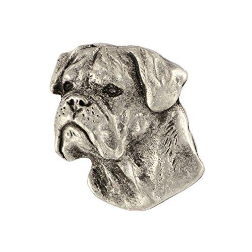 Bullmastiff, Silver Hallmark 925, Pin Art-Dog