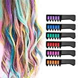 Temporary Hair Chalk Comb Set - Zivisk Hair Dye Hair Color Brush Glitter Paint Washable Hair Color Comb - Perfect for Girls Party Cosplay Festivals
