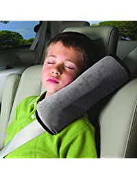 Seatbelt Pillow,Car Seat Belt Covers for Kids,Adjust Vehicle Shoulder Pads,Safety Belt Protector Cushion,Plush Soft Auto Seat Belt Strap Cover Headrest Neck Support for Children Baby Adult (Gray) BOBEBE Online Baby Store From New York to Miami and Los Angeles