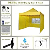 DELTA Canopies -10'x10′ Pop up Outdoor Instant Folding Wedding Canopy Party Tent Gazebo EZ Yellow – F Model Commercial Frame Review