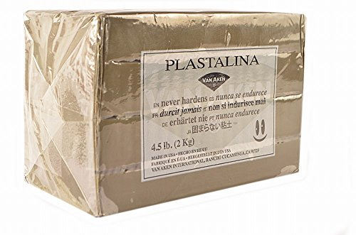 Van Aken Plastalina Non-Hardening Modeling Clay 4.5 Lb. Sculpture Gray