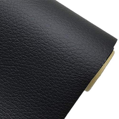 (Moyishi Leather Suede Vinyl Car Furniture Wrap Self Adhesive Stretch Decal DIY 19.7''x78'''' (Black))