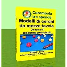 Carambola tre sponde - Modelli di cerchi da mezza tavola: Dai tornei di campionato professionale (Italian Edition)