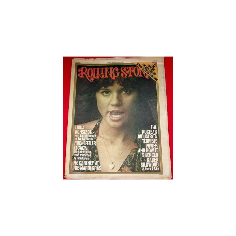 Rolling Stone Magazine March 27, 1975 Issue 183 Linda Ronstadt Cover