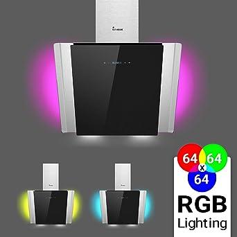 Dunstabzugshaube Wandhaube 60cm kopffrei RGBW Beleuchtung extra leise KKT KOLBE