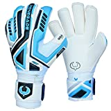 Renegade GK R- GK Fury Sub-Z Soccer Goalie Gloves Youth & Adult Roll Cut (Size 8) With Pro Fingersaves - Improve Goal Blocking - Latest Soccer Goalie Equipment - Men, Women, Boys, Girls, Youth, Jr