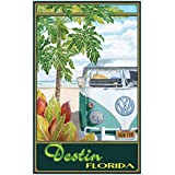 "Destin Florida Truck Hula Travel Art Print Poster by Evelyn Jenkins Drew (12"" x 18"")"