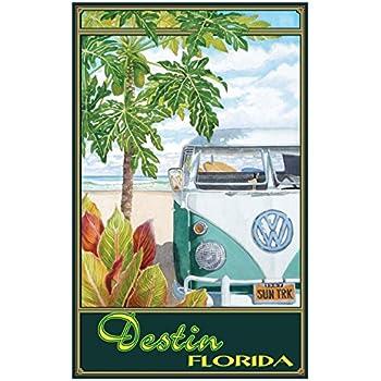 Naples Florida retro beach Print-Poster art decor vintage sign artist gulf coast