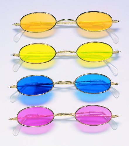 Adult Seventies Oval Glasses (70s Themed Costumes)