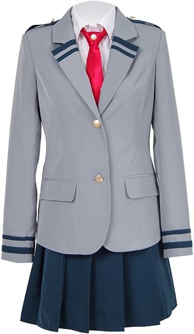 IDEALcos Uniforme escolar, disfraz de cosplay, chaqueta, falda ...