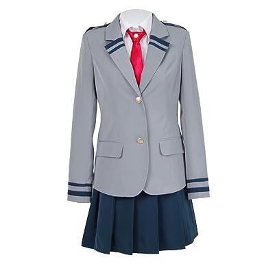 d045bc6ea72 Amazon.com  Japanese Anime My Hero School High School Uniform Cosplay  Costumes for Girls Women  Clothing