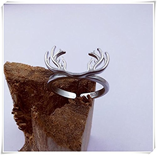One Life ,one jewerly Designer Antler shape ring made in 92.5 sterling silver band perfect for daily wear ring available in all sizes