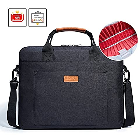 Laptop Bag, KALIDI 15.6 Inch Notebook Briefcase Messenger Bag for Dell Alienware / Macbook / Lenovo / HP , Travelling, Business, College and - Hp Belt Case