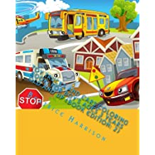 Toy Trucks and Cars Coloring Book: For Boy's Ages 3 Years Old and up (Book Edition: 2)