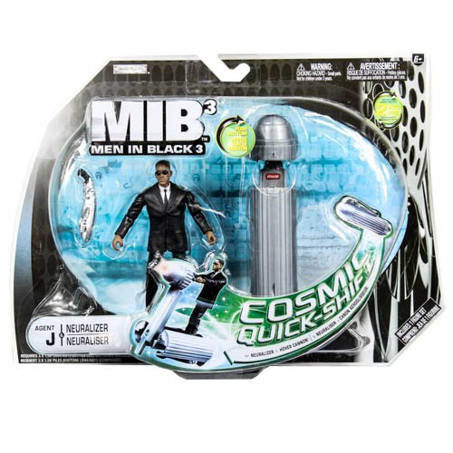 Men In Black 3 (MIB3) Basic Figure w/Large Accessory Pack: Agent J & - Agent Black In Men