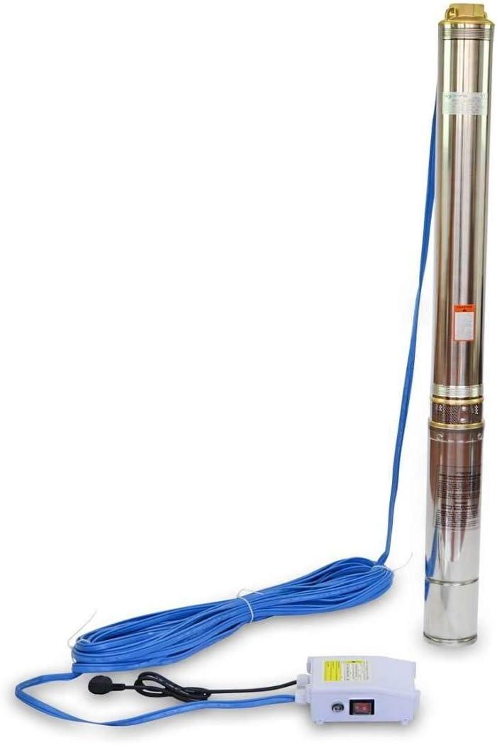 AgoraDirect - Bomba De Agua Sumergible Para Pozo, 1500W/2CV