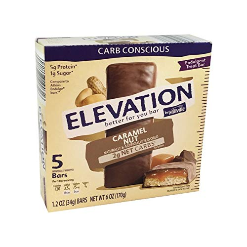 Millville Elevation Advanced Carb Conscious Better for You Caramel Nut Endulgent Bars – 5 ct.