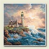 Lighthouse on the Rocks Light House Judy Gibson Six Inch Absorbastone Trivet