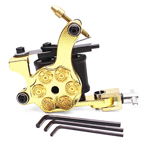 Lebeaut Tattoo Machine 12 Wraps Coil Professional Tattooing Liner & Shader Tattooing Gun Machine Tattooing Tool Device Instrument with 3 Spanners (12 Coil Wrap Tattoo Machine)