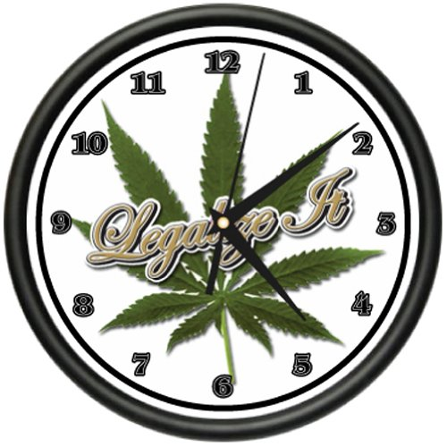 LEGALIZE IT Wall Clock marijuana pot smoker pipe gift