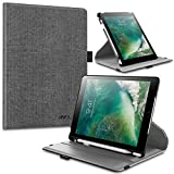 Infiland iPad 6th Generation Cases iPad 9.7 2018 Case with Pencil Holder, 360 Degrees Smart Rotating Case Cover with Auto Sleep/Wake for Apple iPad 9.7 2018 Release Model A1893/A1954, Gray