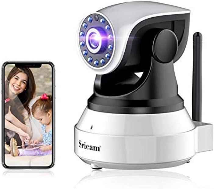 Camara IP WiFi 1080P, Camara de Vigilancia Inalámbrico, con HD Zoom, Vision Nocturna, Comunicación Bilateral, Detección de Movimiento, Seguridad para Casa, Mascota, Anciano, Compatible iOS/Android
