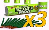 3-Pack SAVE $$ Murphy's Mosquito Sticks – All Natural Insect Repellent Incense Sticks – Bamboo Infused with Citronella, Lemongrass & Rosemary (3 pack)
