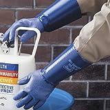 Nitri-Solve Knit Blue Chemical Resistant Gloves with Cotton Interlock Liner, 1 Pair, Medium
