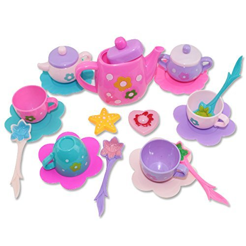 19 Pieces Kids Girls Children Play Set Toys Kitchen Tea Pot Indoor(B11848)~ WE Pay Your Sales Tax