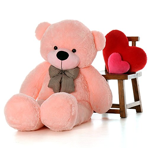 Cuddly Pink Teddy Bear - WOWMAX 4 Foot Pink Giant Huge Teddy Bear Cuddly Stuffed Plush Animals Teddy Bear Toy Doll 47
