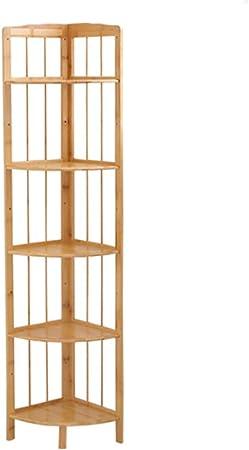 Bambú natural Estantería de bambú, Estante de la esquina Repisa escalera Organizador de almacenamiento Estante del almacenaje Pie de Multiusos Para los registros y libros -C 130x40x30cm(51x16x12inch): Amazon.es: Hogar
