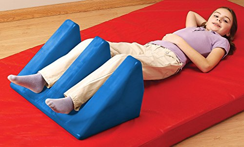 Positioning Bolster (Tumble Forms 2 Slotted Wedges, Small, Ergonomic Cushion Positioning Bolster and Support for Physical Therapy & Rehabilitation, Comfort Wedge for Back, Leg, Head with Contoured Slots, Child or Adult)