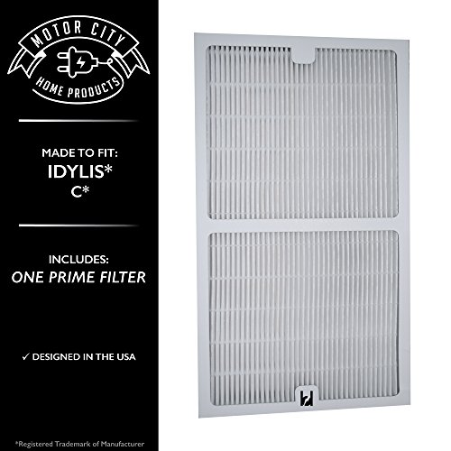 Idylis C Style Compatible HEPA Air Purifier Filter Motor City Home Products Brand Replacement (1)