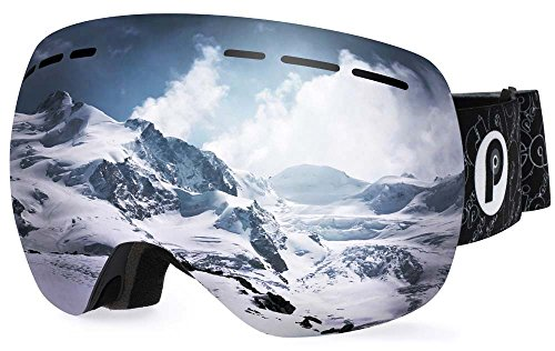picador Snowmobile Snowboard Skate Ski Goggles PRO with Detachable Dual Layer Anti-Fog Lens for Adults (New ()
