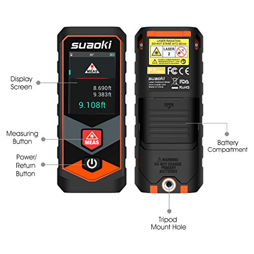 Suaoki P7 328Ft Laser Distance Measure with BLUETOOTH 4.0 ,Touchscreen and Angle...