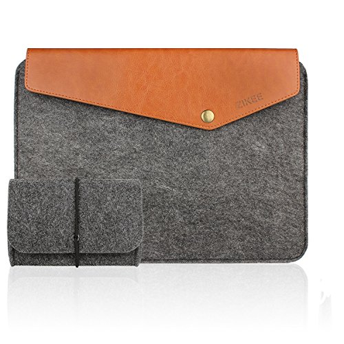 Zikee 13″ Macbook Sleeve Felt Light Protective Case, for 13″ Macbook Pro/ Air and most of 13.3″ Ultrabooks