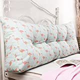 WENZHE Upholstered Headboard Bedside Cushion Pads Floral Princess Triangular Soft Case Bedroom Sofa Large Back Washable Country Style, 7 Colors, 7 Sizes (Color : 6#, Size : 120×45×20cm)