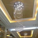 Large Chandelier LED Crystal Pendant Ceiling Lighting for Staircase Living Room