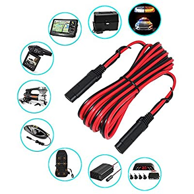 Battery Charging Cables SAE to SAE 12V-24V Quick Disconnect Extension Cable