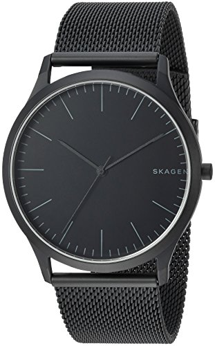 Skagen Men Jorn Analog-Quartz Watch with Stainless-Steel Strap, Black, 22 (Model: SKW6422)