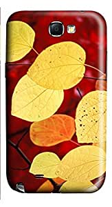Samsung Note 2 Case Beautiful Yellow Leaves 3D Custom Samsung Note 2 Case Cover