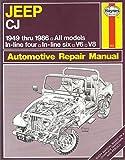 Jeep Cj Automotive Repair Manual, 1949-1986