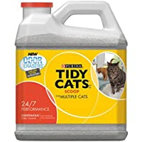 Tidy Cats Scoop Cat Box Litter, Control de rendimiento, para gatos múltiples, 20 lb