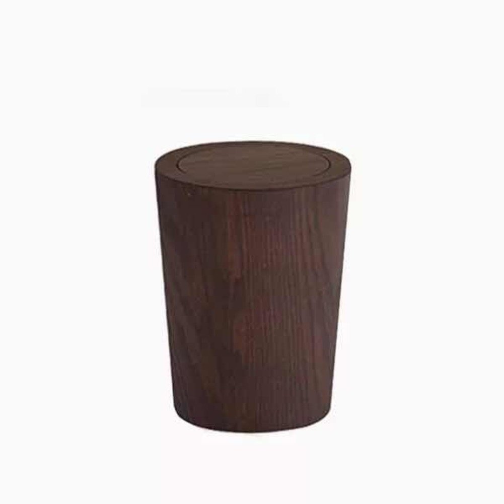 Garbage can Wooden Trash can,Simple Creative Japanese Style dustbin Home Living Room Bedroom Office Storage Bucket Waste bin-H 23.5x30cm(9x12inch)