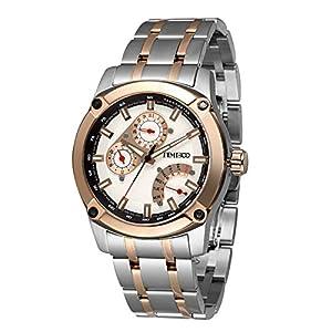 Time100 Mens Fashion Multifunction Steel Strap Business Mens Watch Japan Miyota Quartz Watch #W70108G.02A
