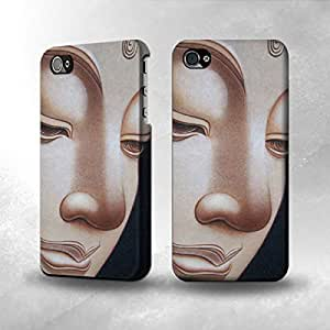 Apple iPhone 5 / 5S Case - The Best 3D Full Wrap iPhone Case - Buddha Face