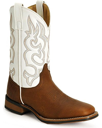 Laredo Men's Rancher Cowboy Boot Square Toe Redwood 9.5 EE US