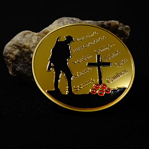 100th Anniversary Coin - World War 1 1914-1918 The Great War First World War WWI 100th Anniversary Commemorative Challenge Gold Plated Coin